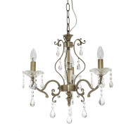 Fiorentino Giovana 3 Light Crystal Chandelier Pendant Light