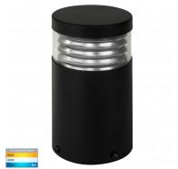 Havit HV1615T-BLK-240V Mini Black Louvred LED Bollard Light