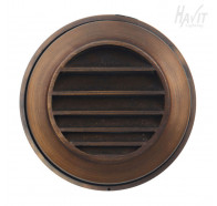 Havit HV2955 12V Antique Brass Round Surface Mounted Step Lights with Grill