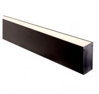 Havit HV9693-3890-BLK 1 Metre Black Aluminium Deep Square LED Profile with Opal Diffuser
