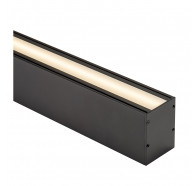 Havit HV9693-6080-BLK 3 Metre Deep Square Up & Down Black Aluminium LED Profile with Opal Diffuser