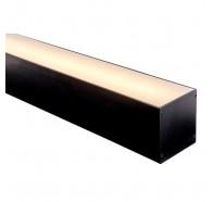 Havit HV9693-8090-BLK 3 Metre Large Deep Square Black Aluminium LED Profile with Opal Diffuser