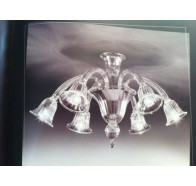 Fiorentino Laguna 6 Light Clear Murano Glass CTC