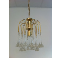 Fiorentino Mestre Flower Drop Gold Chandeliers