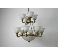 Fiorentino MX959 Antique Brass 15 Light Pendant