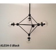 Fiorentino Klesh 5 Light Clear Glass Aluminium Pendant