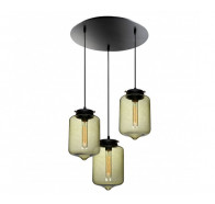 V & M London Glass 3 Light Pendant