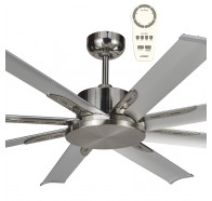 "Martec Albatross Mini DC 1600mm 65"" 8 Blade Industrial Style Ceiling Fan with Remote"