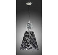 V & M Nero 1 Light Pandant Lamp