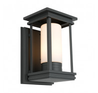 Cougar Norfolk Black 1 Light Exterior Wall Light