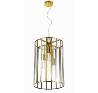 Telbix Pratt 3 Light Antique Brass Pendant Light