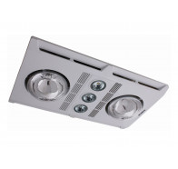 Martec Profile Plus 2 White LED Bathroom 3-In-1 Heat Light Exhaust Fan