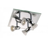 Fiorentino Queenie 4P Chrome Glass Adjustable Track Lights