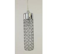 Fiorentino Sabin 1P Crystal Chrome Pendant Light