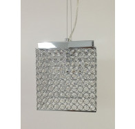 Fiorentino Sayol 2 Light Crystal Square Pendant