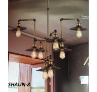 Fiorentino Shaun 8 Lights Bronze and Black Pendant