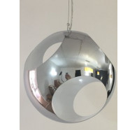 Fiorentino Skola-1P 1L Chrome Metal Pendant Withe Four Circular Holes E27