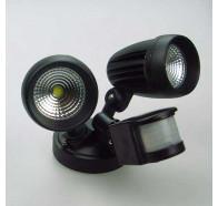 Lumos SPL2S Twin-Head 2X13w LED Security Light Motion-Sensing Floodlight/Spotlight