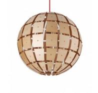 Fiorentino Torino 1 Light Wood Pendant