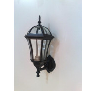 Fiorentino Barba 0401 Up Black 1 Light Exterior Coach Wall Light