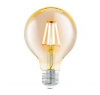 Eglo G80 Round Decore Amber 4W E27 2200K Led Globes