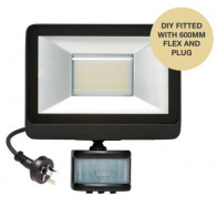 Martec 20W DIY Tricolour LED Security Flood Light with PIR Sensor