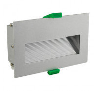 Martec Slip Brushed Aluminium 4.5W LED Rectanglar Step Light