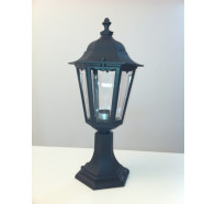 Fiorentino EPM 8302PM 1 Light Pillar Mount in Black Color