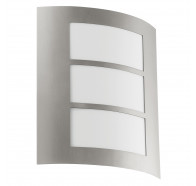 Eglo City Horizontal Rectangle Cutout Stainless Steel Exterior Wall Light