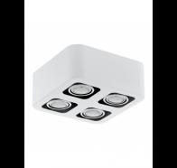 Eglo Toreno LED 4 Lights White & Chrome Gimble Surface Mounted Ceiling Lights
