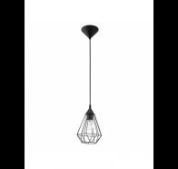 Eglo Tarbes Small 1 Light Black Cage Pendant Light