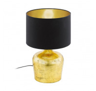 Eglo Manalba Black & Gold Small Table Lamp