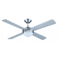 "Hunter Pacific Intercept 2 52"" (1320mm) 4 Timber Blade Ceiling Fan with 2x E27 Light"