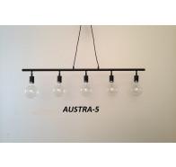 Fiorentino AUSTRA 5L E27 Black Frame Pendant