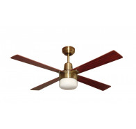 "Martec Alpha Antique Brass 1200mm 48"" Ceiling Fan with Clipper Light"