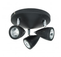 V & M Como 3 Lights Spot Black Plate