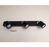 Fiorentino Cordero 3 Light Black & White Led Adjustable Wall Bracket