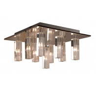 V & M Cubo 9 Lights Crystal Flush Pendant Light Clear Square CTC
