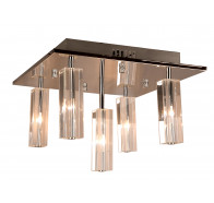 V & M Cubo 5 Light Crystal Flush Pendant Light Close to Ceiling