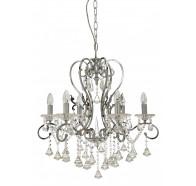 Fiorentino Boemia 6 Light Crystal Chandelier Pendant Light