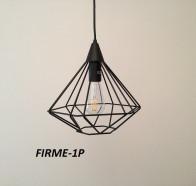 Fiorentino Firma 1 Light Black Frame Pendant