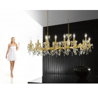 Fiorentino Graz 16 Lights Crystal Pendant
