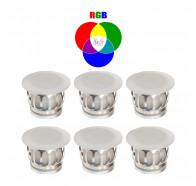 Havit HV2827RGB Uton Polycarbonate RGB 6 X 0.5W LED Mini Deck Light Kit