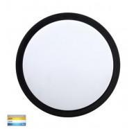 Havit HV36052T-BLK Liptor Black Surface Mounted Tri Colour 20w LED Oyster Light