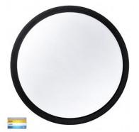 Havit HV36053T-BLK Liptor Black Surface Mounted Tri Colour 30w LED Oyster Light