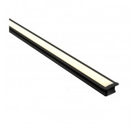 Havit HV9695-2515-BLK 3 Metre Deep Square Winged Black Aluminium LED Profile with Opal Diffuser