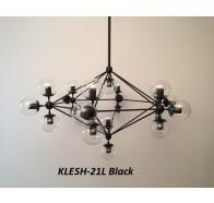 Fiorentino Klesh 21 Light Clear Glass Aluminium Pendant