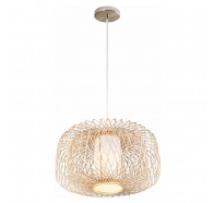 V & M Kuto Bamboo Pendant Light 60x35cm Large