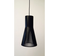 Fiorentino Lucca Wood Veneer Black Pendant Light