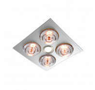 Ventair Myka 4 - Slimline 3 in 1 With 4 X 275w Infrared Heat Lamps, 10w Led Downlight and Side Ducted Exhaust